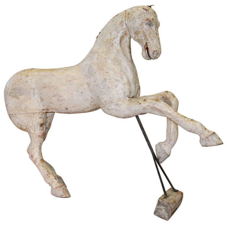 Early 19th Century Swedish Wooden Horse For Sale