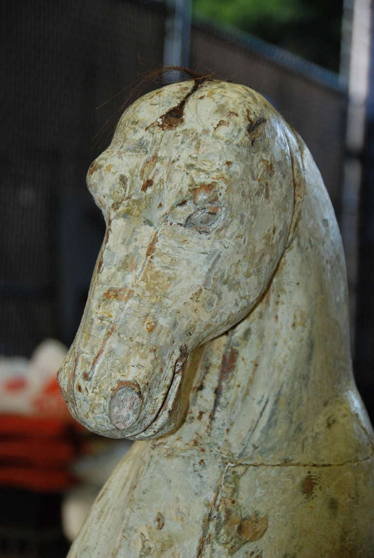 Early 19th Century Swedish Wooden Horse For Sale 4