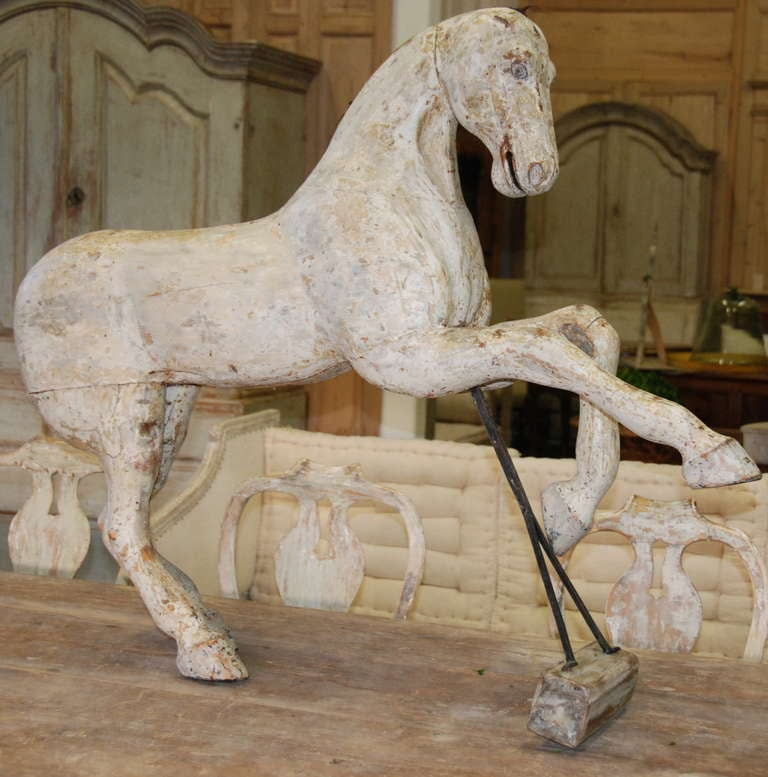 Early 19th Century Swedish Wooden Horse For Sale 5