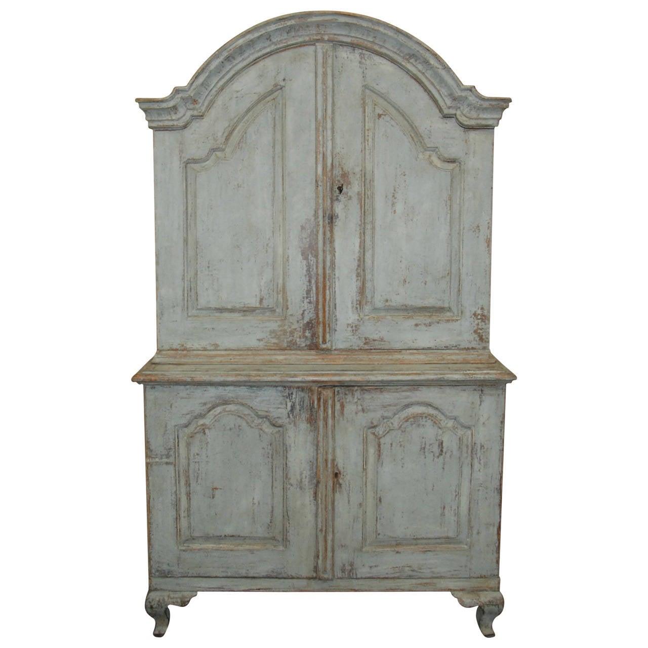 Swedish Rococo Cupboard For Sale