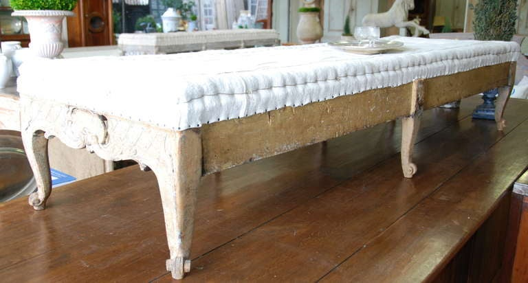 Swedish Period Rococo Carved Footstool At 1stdibs