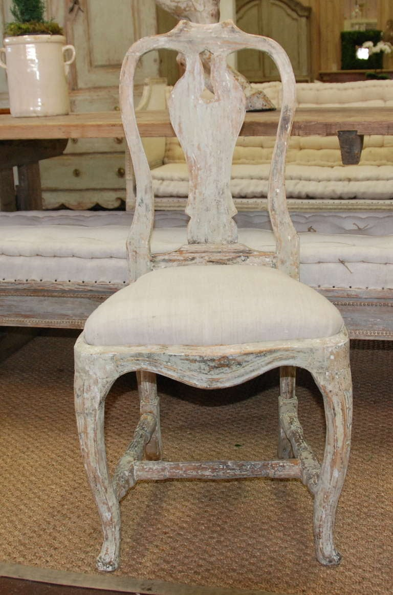 Set Of 4 Swedish Period Rococo Chairs At 1stdibs