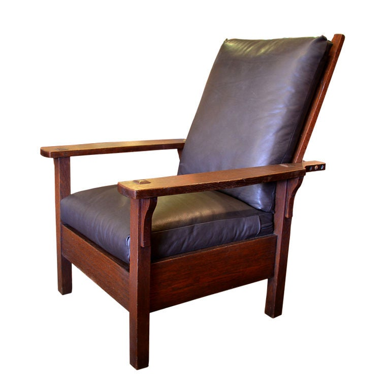 Reclining Arm Chair Morris Chair By Gustav Stickley At