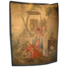 French 18th century Louis XV Beauvais Chinoiserie Taoestry of Emperor