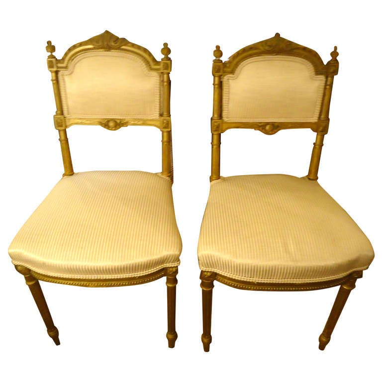 pair of exquisite antique french salon chairs at 1stdibs