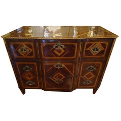 Magnificent Early Italian Mixed Wood Chest of Drawers