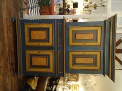 Very Large 19th century Continental Handpainted Armoire