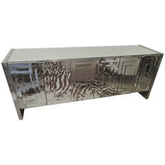 Super Glitzy Mirrored Mid-Century Modern Sideboard or Credenza