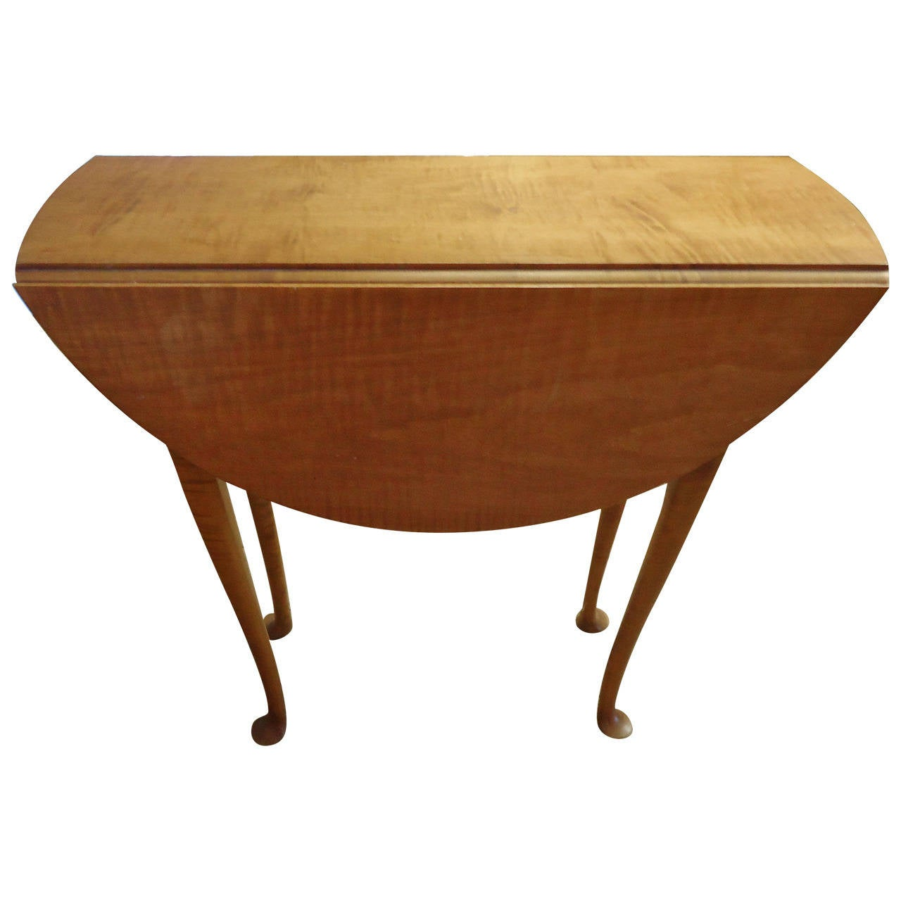 Tiger maple little gateleg table at 1stdibs - Gateleg table with chairs ...