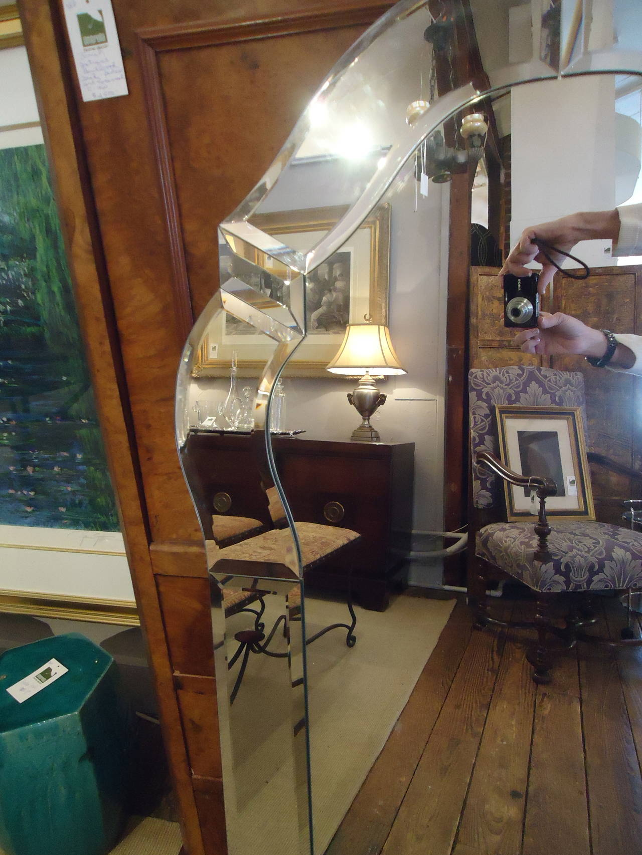 Superstar Hollywood Regency Style Venetian Mirror At 1stdibs