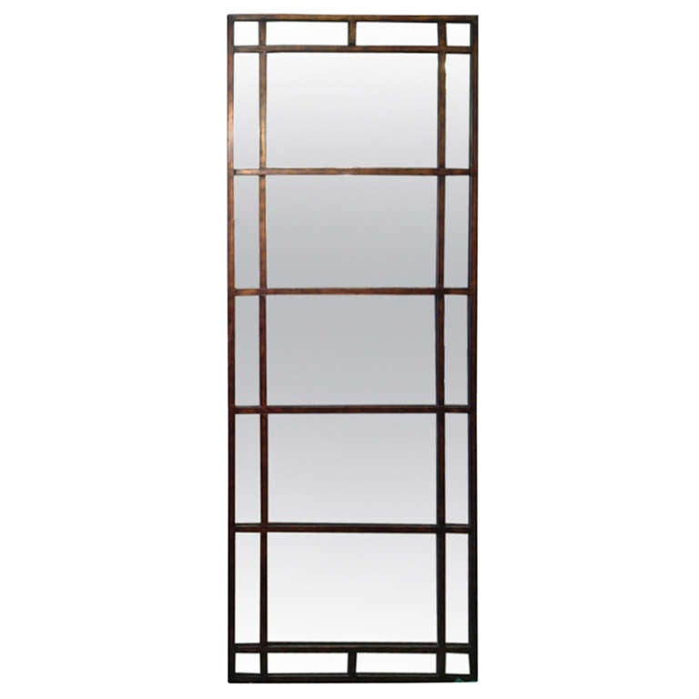 Tall mirror with antique glass at 1stdibs for 6 foot floor mirror