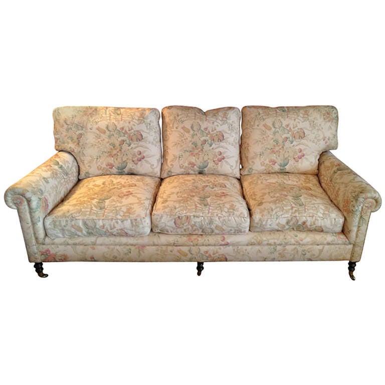 Comfy George Smith Down Sofa At 1stdibs