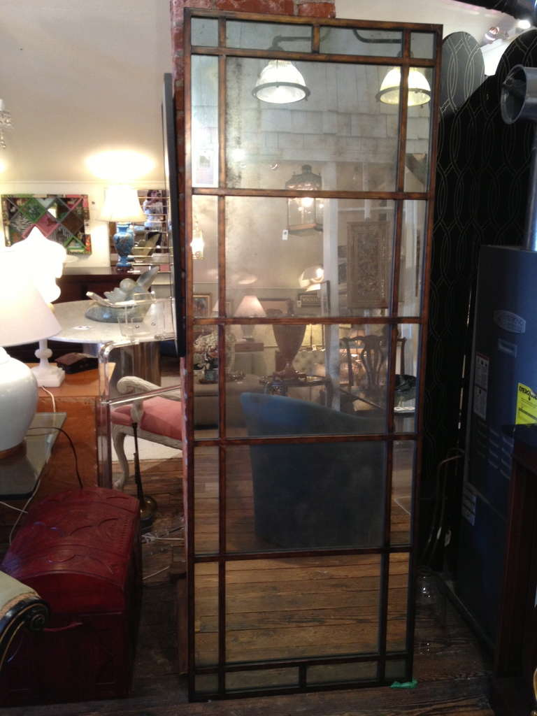 Tall mirror with antique glass at 1stdibs for Glass floor mirror
