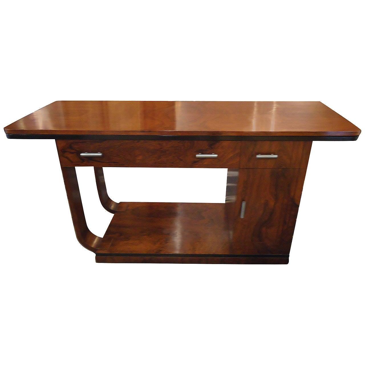 Mid century flip top deco style rosewood desk at 1stdibs for Flip top computer desk