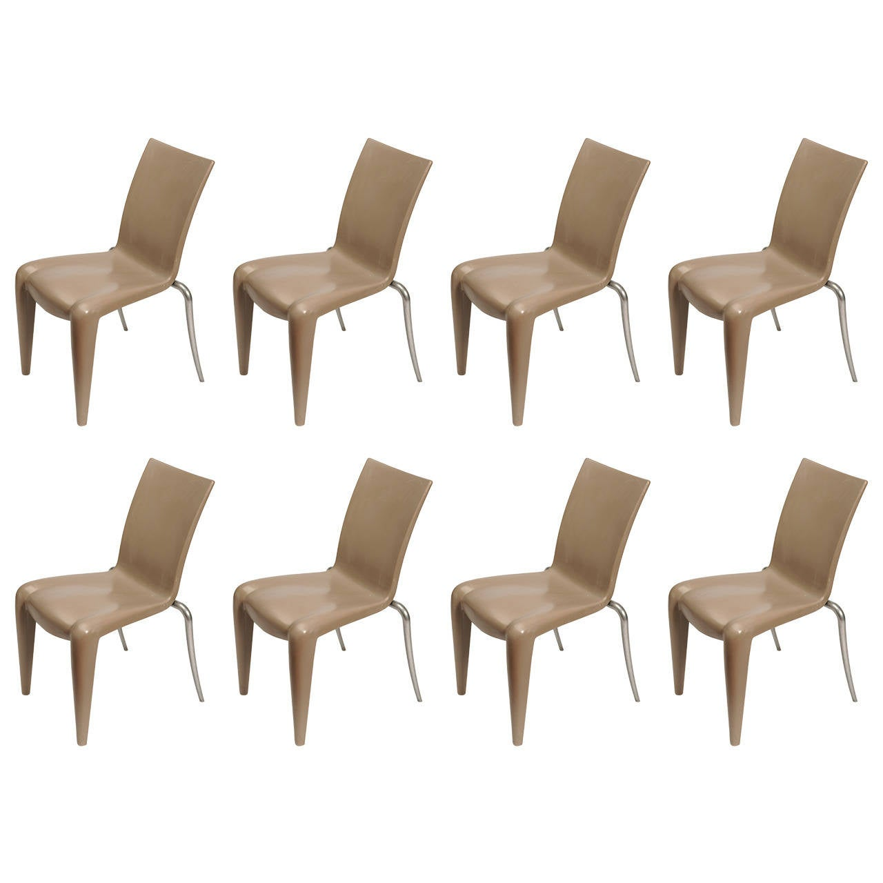 "Set of Eight Philippe Starck ""Louis xx"" Chairs"