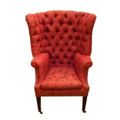 Regal Antique Tufted High Back Tub Chair