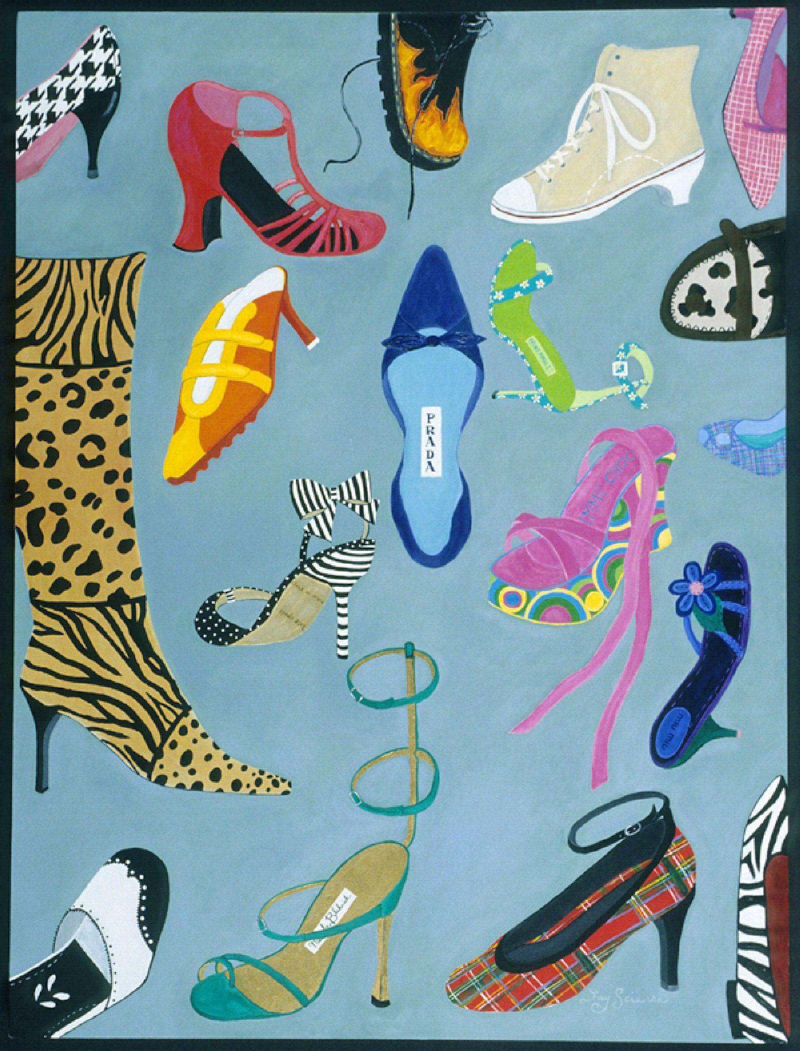 Shoe Crazy Person's Dream Painting