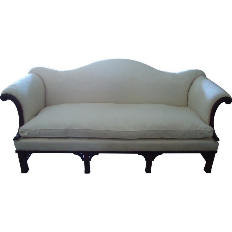 Chinese chippendale stretcher sofa at 1stdibs for Chinese style sofa
