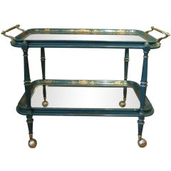Vintage Italian Painted Bar Cart