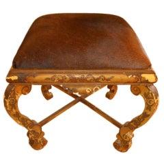 Antique Italian Footstool/Bench