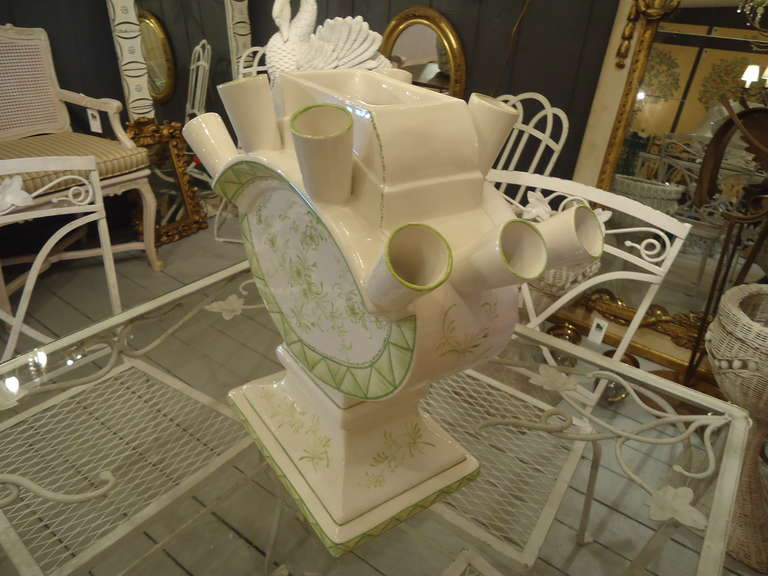 Italian Mottahedeh Valpierre Ceramic Centerpiece For Sale