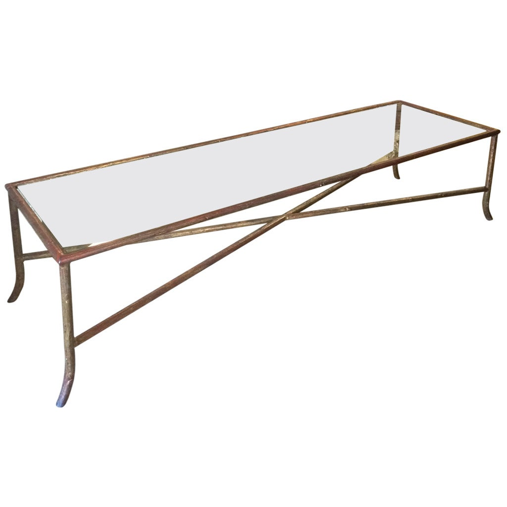 Long Narrow Bagues Style Faux Bois Coffee Table 1