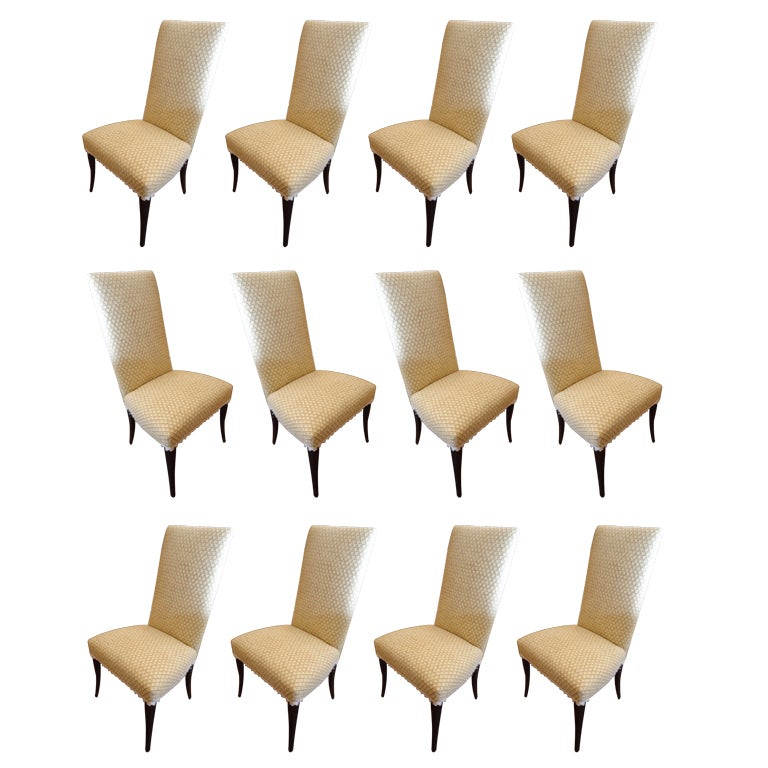 Twelve Upholstered Dining Chairs At 1stdibs