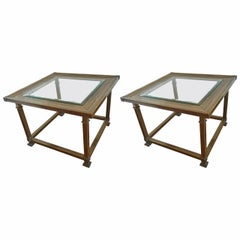 Pair of Mastercraft Mid-Century Modern End Tables