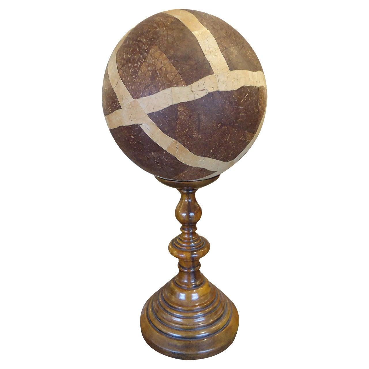 Masculine Wooden Orb/Globe on Custom Stand