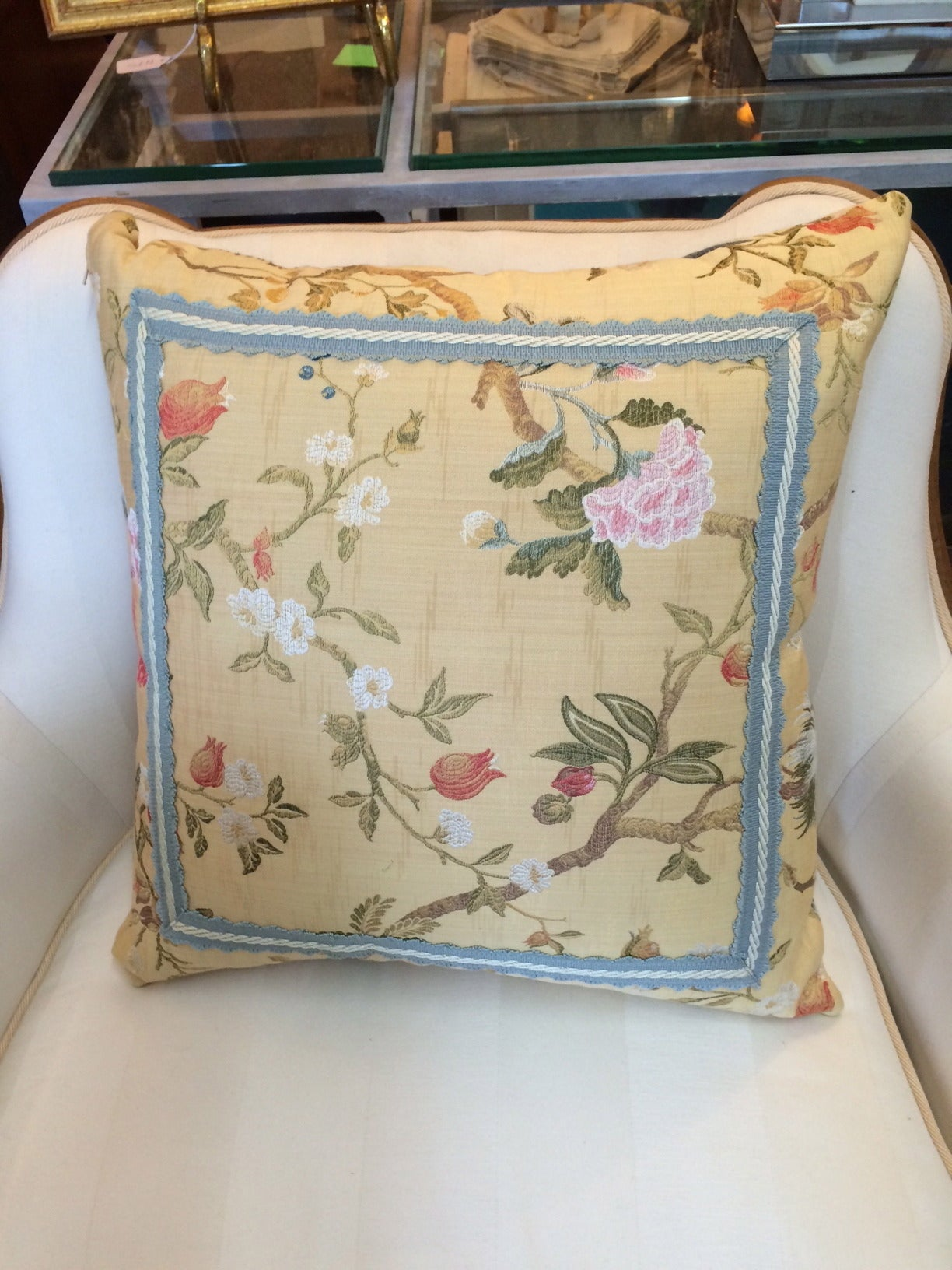 American Pair of Gorgeous Vintage Scalamandre Fabric Pillows For Sale