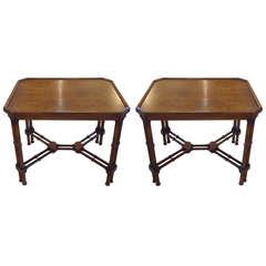 Pair of Midcentury Modern Walnut End Tables