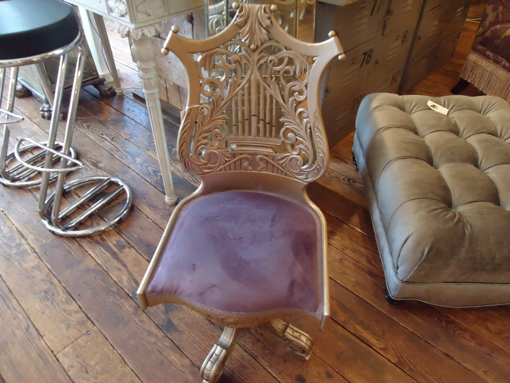 Antique Adjustable Music Chair 7
