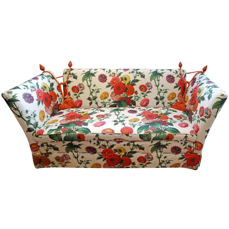 Knole Style Sofa With Lee Jofa Floral Fabric At 1stdibs