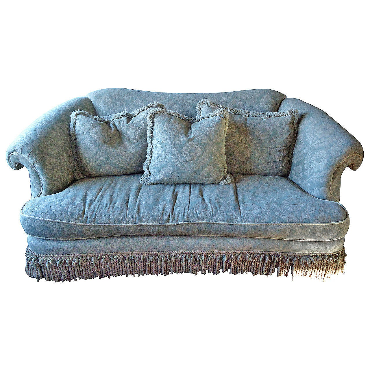 Sumptuous Large And Curvy Down Sofa At 1stdibs