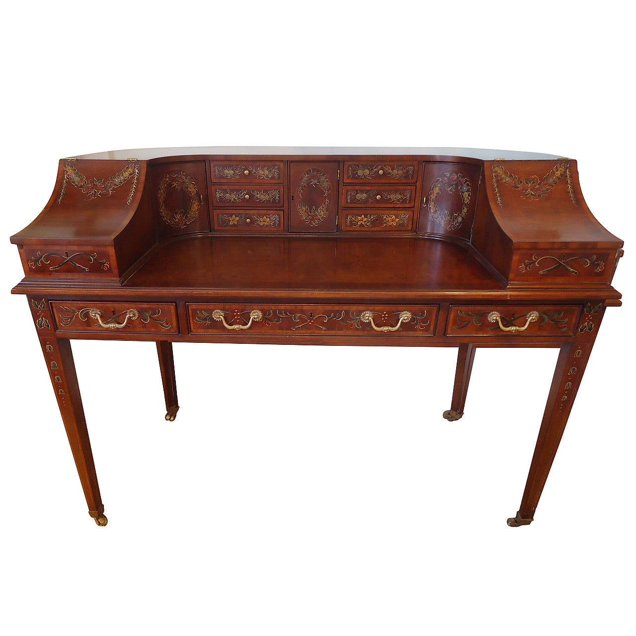 #6D3423  Carlton House Curved Hand Painted Writing Desk Is No Longer Available with 1280x1280 px of Best Painted Writing Desk 12801280 image @ avoidforclosure.info