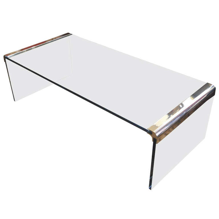 Pace Waterfall Coffee Table At 1stdibs
