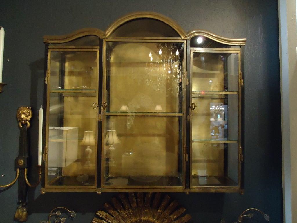 vintage chapman metal cabinet vitrine at 1stdibs. Black Bedroom Furniture Sets. Home Design Ideas