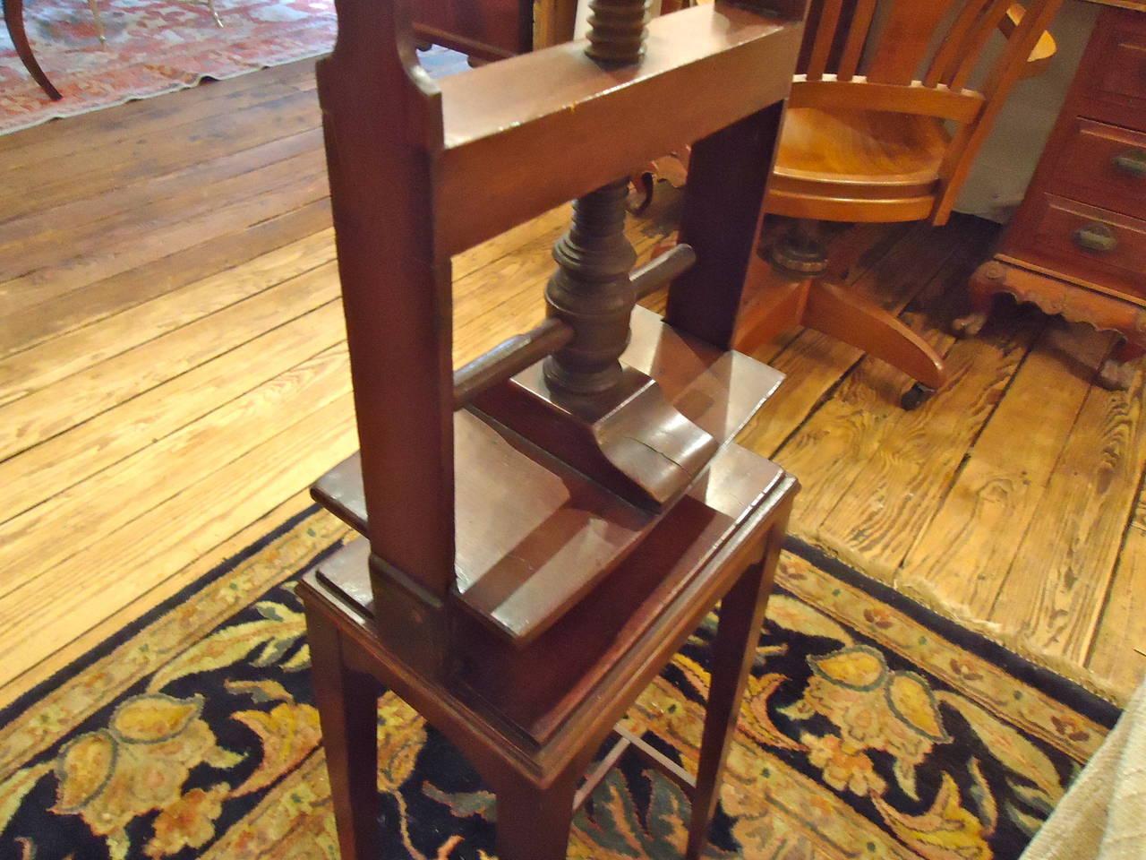 Elegant antique mahogany book press at 1stdibs - Vintage pieces of furniture old times elegance ...