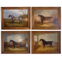 Set of Four Fine Equestrian Portraits by James Clark