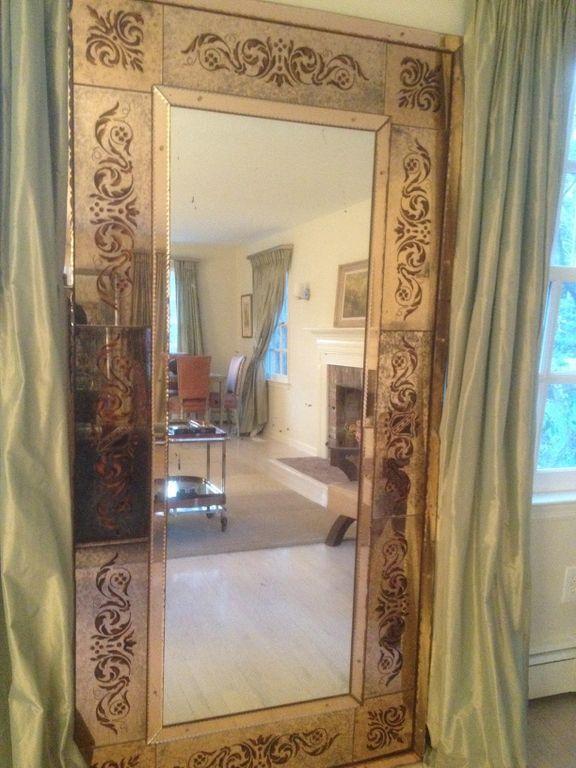 Elegant and large Venetian style Floor Mirror at 1stdibs