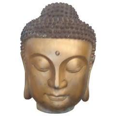 Big Bronze Buddha Head