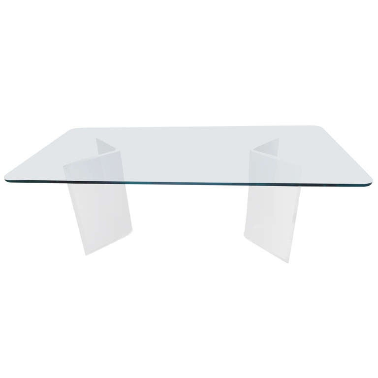 Lucite and Thick Glass Dining Table at 1stdibs : DSC06069l from www.1stdibs.com size 768 x 768 jpeg 8kB