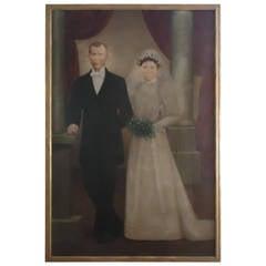 Large 19th Century Wedding Portrait
