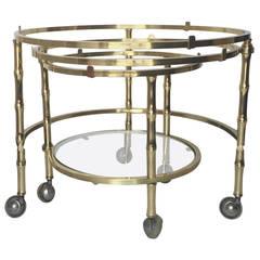 Brass Faux Bamboo Expansion Nesting Tables