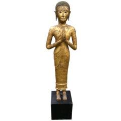 Magnificent Early 19th Century Bronze Thai Buddha Monk