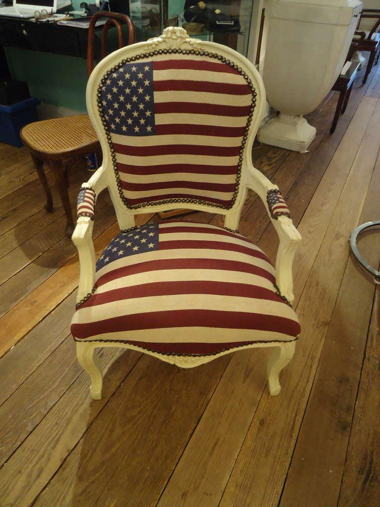 Bespoke Patriotic Painted Armchair 2