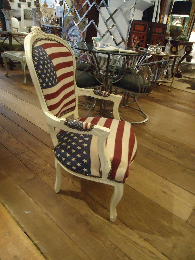 Bespoke Patriotic Painted Armchair 3