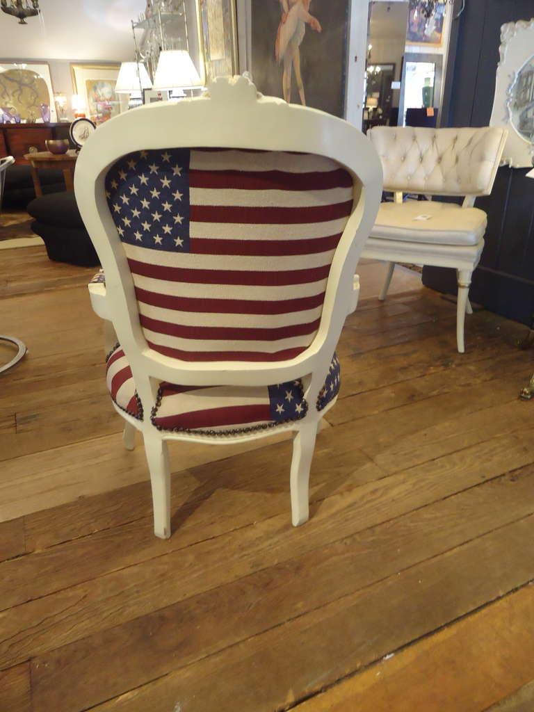 Bespoke Patriotic Painted Armchair 4