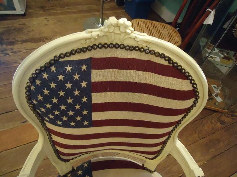 Bespoke Patriotic Painted Armchair 5