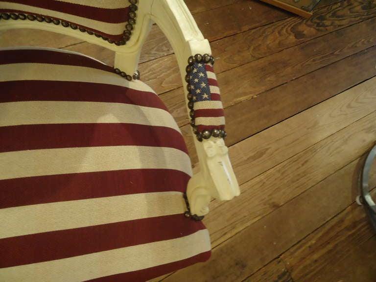 Bespoke Patriotic Painted Armchair 6